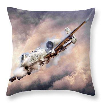 Firestorm Throw Pillow by Peter Chilelli