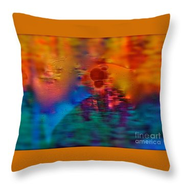 Firewall Berries Throw Pillow by Patricia Schneider Mitchell