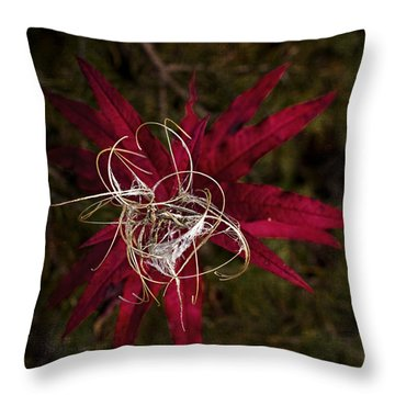 Fireweed Seed Throw Pillow