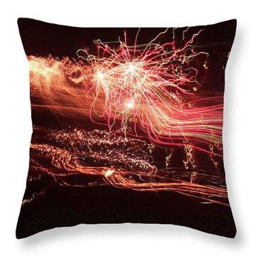 Firework Fantasy  Throw Pillow