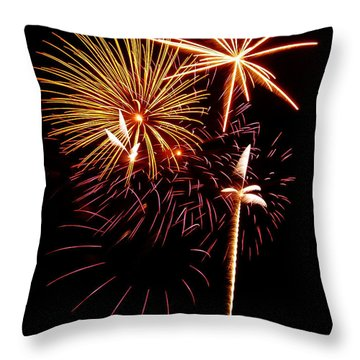 Fireworks 1 Throw Pillow by Michael Peychich
