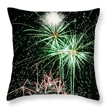 Fireworks 4 Throw Pillow by Michael Peychich