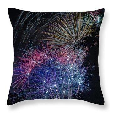 Fireworks 5 Throw Pillow