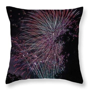 Fireworks 7 Throw Pillow
