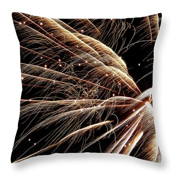 Throw Pillow featuring the photograph Fireworks Evolution #0710 by Barbara Tristan