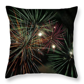Fireworks Throw Pillow by Glenn Gordon