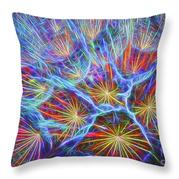 Fireworks In Nature Throw Pillow