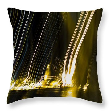 fireworks in Port of Malaga Throw Pillow