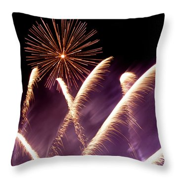 Fireworks In The Night Throw Pillow