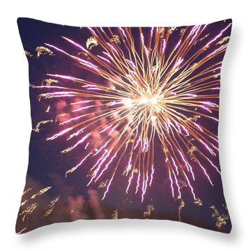 Throw Pillow featuring the digital art Fireworks In The Park 2 by Gary Baird