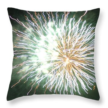 Throw Pillow featuring the digital art Fireworks In The Park 4 by Gary Baird
