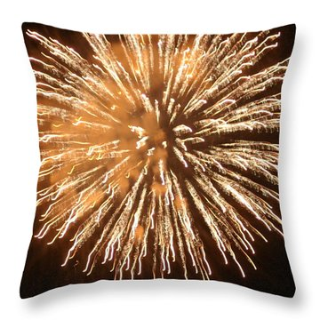 Throw Pillow featuring the digital art Fireworks In The Park 5 by Gary Baird