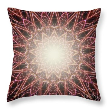 Throw Pillow featuring the photograph Fireworks Kaleidoscope by Shirley Moravec