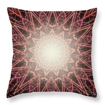 Fireworks Kaleidoscope Throw Pillow
