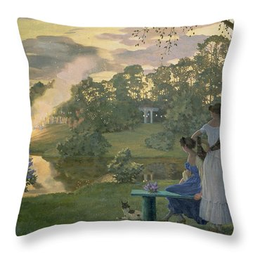Fireworks Throw Pillow by Konstantin Andreevic Somov