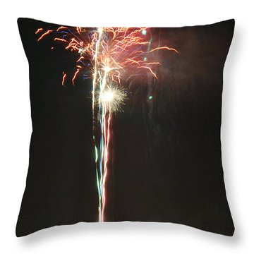 Fireworks On The Lake Throw Pillow