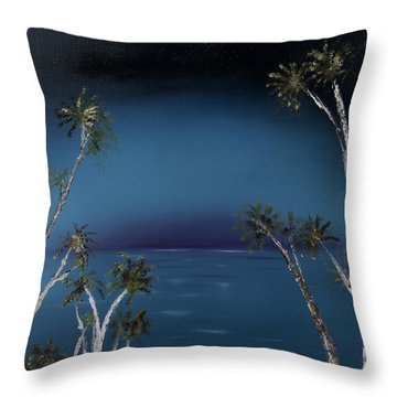Fireworks Palms Throw Pillow