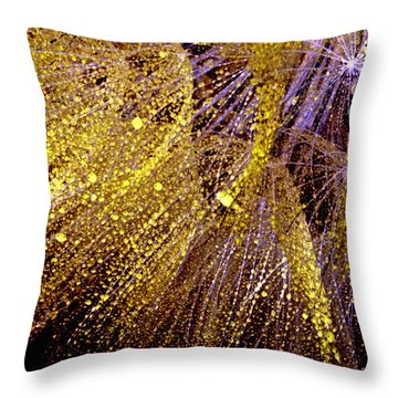 Fireworks Seed Throw Pillow by Sandra Foster