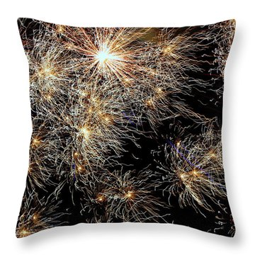 Throw Pillow featuring the photograph Fireworks by Suzanne Stout