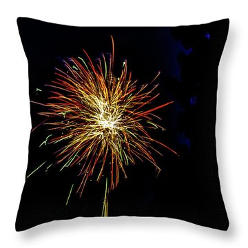 Throw Pillow featuring the photograph Fireworks by William Norton