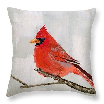 Firey Red Throw Pillow