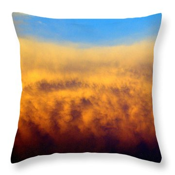 Firey Sunset Throw Pillow by Marty Koch