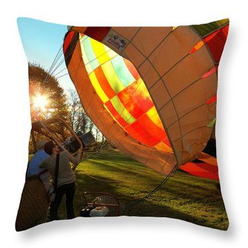 Firing Up Throw Pillow