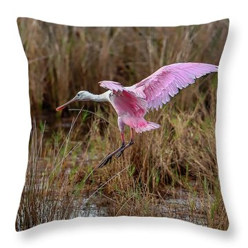 First Arrival Throw Pillow