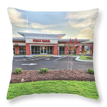 First Bank 4 Throw Pillow