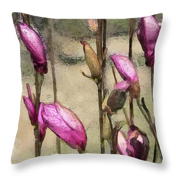 Throw Pillow featuring the digital art First Blush by Gina Harrison