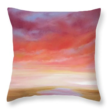 Throw Pillow featuring the painting First Blush By V.kelly by Valerie Anne Kelly