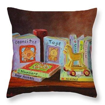 First Books Throw Pillow
