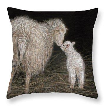 First Born Throw Pillow