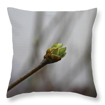 First Bud Throw Pillow