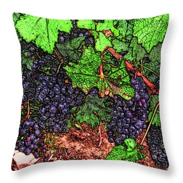 First Came The Grape Throw Pillow