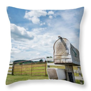 First Class Delivery Throw Pillow