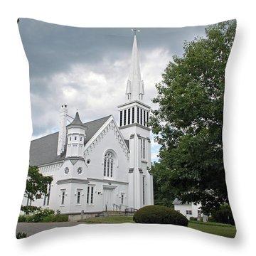 First Congregational Church Of Kent Throw Pillow