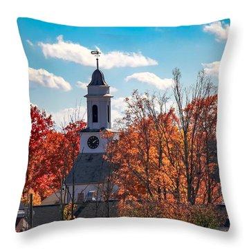 First Congregational Church Of Southampton Throw Pillow
