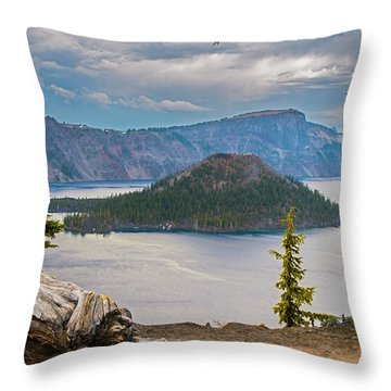 First Crater View Throw Pillow