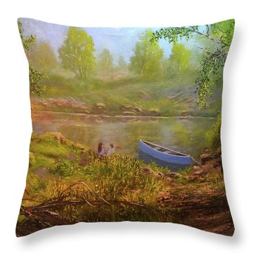 First Date  Throw Pillow