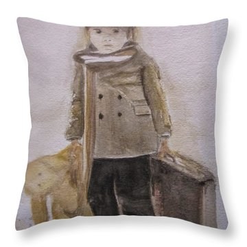 First Departure Throw Pillow