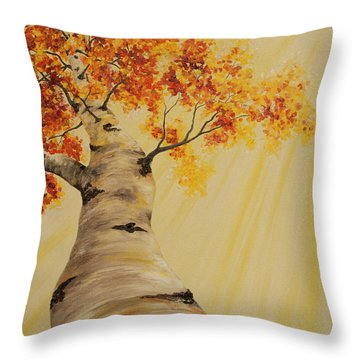 First Fall Light Throw Pillow