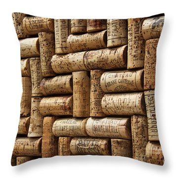 First Growths Of Bordeaux Throw Pillow by Anthony Jones