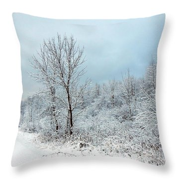 First Here  Throw Pillow