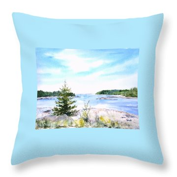 First Impressions, Maine Throw Pillow
