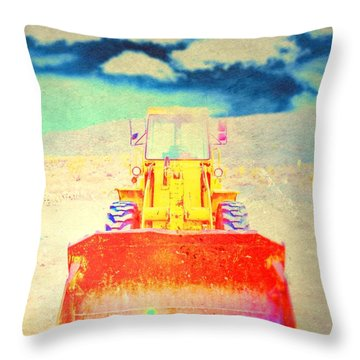 Throw Pillow featuring the photograph First In  by Mark Ross