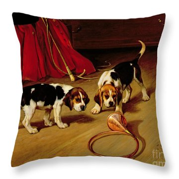 First Introduction Throw Pillow by Wright Barker