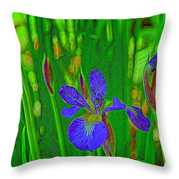 First Iris To Bloom Throw Pillow