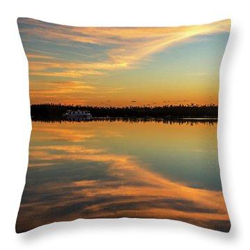 Throw Pillow featuring the photograph First Key West Sunrise 2018 A  by Bob Slitzan