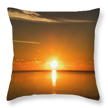 Throw Pillow featuring the photograph First Key West Sunrise 2018 D by Bob Slitzan